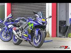 R15 Modifikasi Motogp by Modifikasi Yamaha All New R15 Movistar Motogp