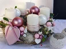 adventskranz rosa herzl koszor 250 adventi asztald 237 sz
