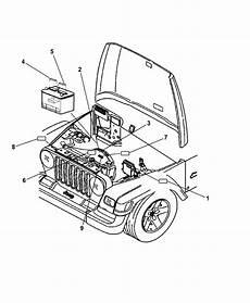 2006 jeep wrangler engine compartment mopar parts