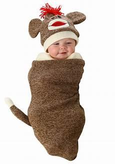 monkey baby costume sock monkey newborn bunting