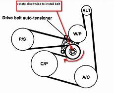 2013 nissan altima 2 5 s serpentine belt diagram after changing out the alternator how do i get the