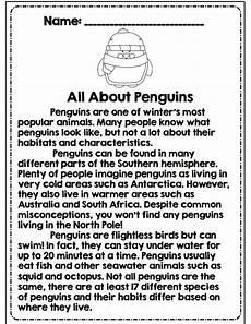winter reading comprehension worksheets 3rd grade 20182 third grade winter math ela packet common aligned a well all about penguins and 3rd