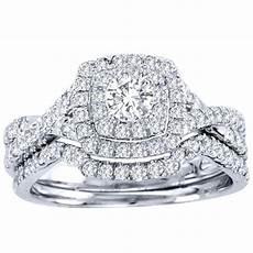 2 carat cut certified diamond luxurious halo cheap diamond wedding ring 10k white