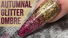 Autumnal Glitter Ombr 233 Design And Easy Nail