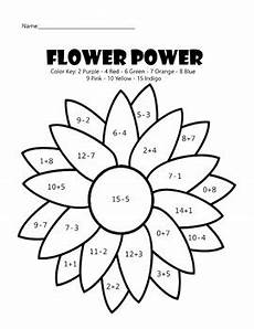 flower power math coloring worksheet by education tpt