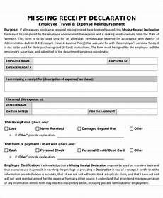 lost receipt free 38 sle receipt forms in pdf
