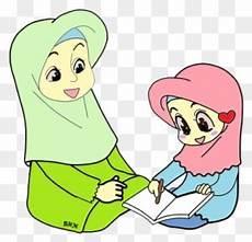 Muslim Child Illustration Gambar Kartun Anak