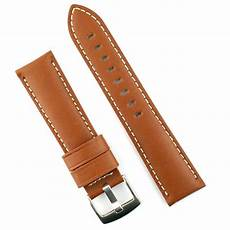 20mm Leather Band 20mm calf leather band white stitch b r bands