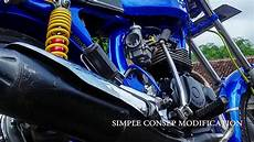 Cb Modif Simple by Modifikasi Honda Cb Biru Cantik Simple Consep Moto Kece