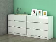 mdf laqué blanc commode 6 tiroirs mdf blanc laqu 233 l158 cm