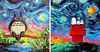 Pop Culture Starry Night Scenes Look Like Cartoon Van Gogh