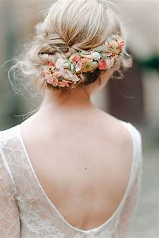 Wedding Hairstyles With Fresh Flowers 38 gorgeous wedding hairstyles with fresh flowers