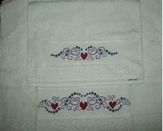 punto croce asciugamani bagno coppia di asciugamani a punto croce per la casa e per te