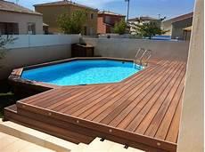 sol exterieur bois am 233 nagement de terrasse de piscine hors sol en composite