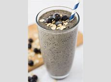 delicious banana blueberry smoothie_image