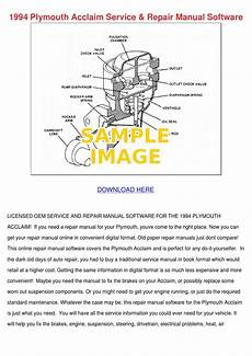 download car manuals 1994 plymouth voyager regenerative braking 1994 plymouth acclaim service repair manual s by reynaldopena issuu