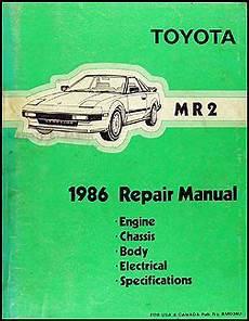 how to fix cars 1986 toyota mr2 user handbook 1986 toyota mr2 repair shop manual original