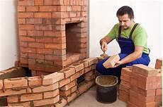 building a masonry heater stock image image of orange