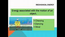 forms of energy youtube