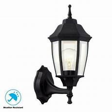 hton bay 1 light black dusk to dawn outdoor wall