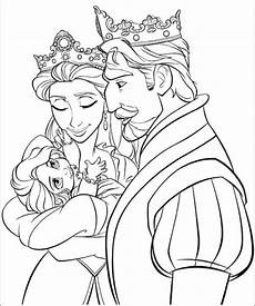 Ausmalbilder Rapunzel Malvorlagen Baby Baby Rapunzel With Parents Coloring Pages Baby