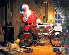 motoblogn tom newsom motorcycle santa art santa makes me happy vintage santa claus santa