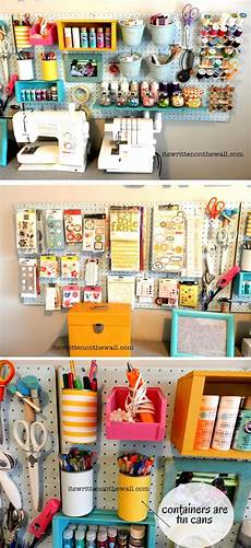 craft room organizing ideas how to use that blank wall to