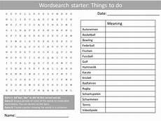 german worksheets ks3 19622 german freetime activities ks3 gcse starter activities wordsearch anagrams alphabet crossword