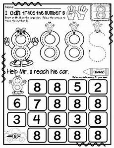 number 8 math worksheets no prep pre kg edition counting and cardinality ccss