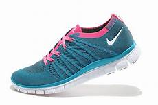 nike free 5 0 flyknit womens running shoes blue pink white