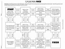 sorting living things worksheets 7894 classification of living things maze worksheet for review or assessment