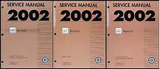 auto repair manual online 2002 oldsmobile aurora electronic valve timing 2002 olds aurora repair shop manual original 3 volume set