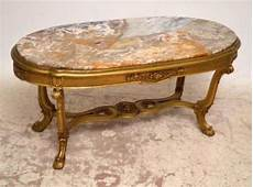 antique gilt wood marble top coffee table 235721