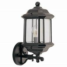 sea gull lighting kent 1 light black outdoor wall fixture 84030 12 the home depot