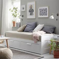 brimnes daybed with 2 drawers 2 mattresses white