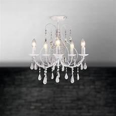 luxury white crystal 5 light ceiling chandelier light lounge bhs sapparia ebay