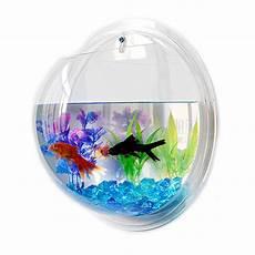 Acrylic Plexiglas Fish Bowl Wall Hanging Aquarium Tank