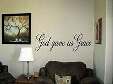 words for the wall home decor god gave us grace vinyl wall words decals stickers