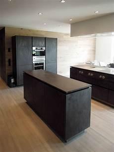 küche beton optik schwarze k 252 che lavagrau steinoptik betonoptik grifflos