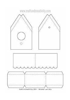 paper birdhouse with template by craft creativity