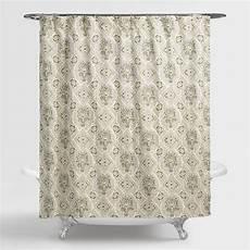 Cost Plus Shower Curtain cost plus world market helsinki tile shower curtain green
