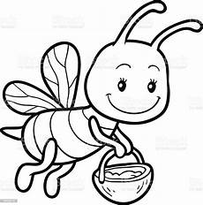 coloring book coloring page with a small bee stock