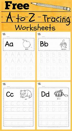 download free alphabet tracing worksheets for letter a to z suitable for preschool pre k or