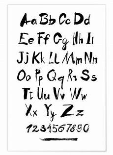 alphabet numbers calligraphy posters and prints
