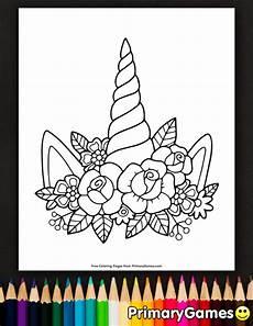 Einhorn Horn Malvorlage Einhorn Horn Und Blumen Malvorlagen Kostenlos Druckbares