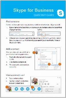 schnellstarthandb 252 cher f 252 r skype for business skype for