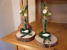 Deko Objekte Baumscheiben 2er Set Deko Vasen