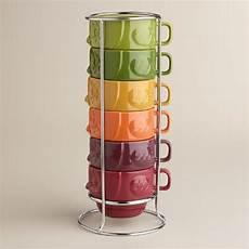 owl stacking mugs of 6 world market