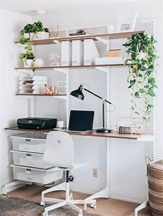 Wooden Bedroom Desk by Modern Minimalist Home Office Space Ideas Elfa Office