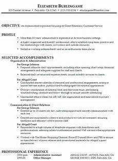 sle resume for an administrative assistant focusing